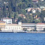 The view from the lake when on the ferry or Isola Del Garda. The gardens are lovely and ideal fo