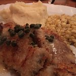 The Alaskan San Dabs with garlic mashed potatoes and sweet buttered corn.