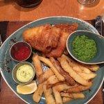 Fish and chips at Gordon Ramsay Pub & Grill