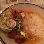 Cioppino with shrimp, scallops and clam