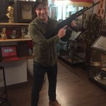 My husband with the de-militarized AK-47