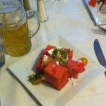 Refreshing Summer salad w/watermelons
