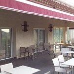 terrasse couverte des repas extérieur