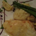 Parmesan baked sea bass
