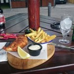 Beautiful fish and chips!