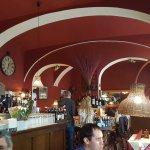 Interior of Scarabocchio. Comfortable family atmosphere.