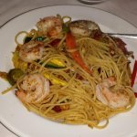 Linguine with Shrimp and Vegetables