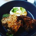Monkfish and cauliflower two ways