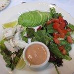 Avacado, Crab salad, look at those hunks of crab!