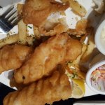 Beer batter fish n chips & beer samplers