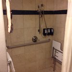 Nice clean well appointed bathrooms with a large walk in shower.