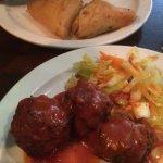 Meatballs & spinach/Feta bites