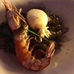 Ink infused Gnocchi with Prawn and Squid