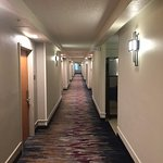 Walkway to guestrooms