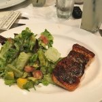 Grilled Salmon with Avocado Mango Salsa salad