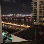 View from the 12th floor room balcony overlooking the Port of Miami