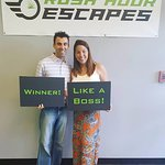 This couple escaped just in time with the Inheritance! Awesome job!!