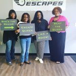 These ladies escaped with Inheritance! Great teamwork!!🛋📺💰