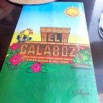 El Calaboze Menu