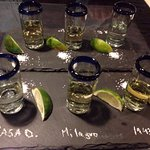 We got a taste test of a few tequilas