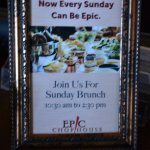 Now open every Sunday for Brunch