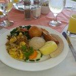 The U.S. $7.00 Jamaican breakfast. Before