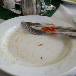 After! It was like this every morning.Empty plates for all of us. My cousins joined me for break