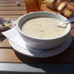 Clam Chowder at Sam's Chowder House, Half Moon Bay, CA. c2016 Valletta M. Lewis
