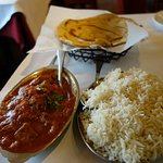 Lamb Curry w/rice and parantha (wheat bread with butter)