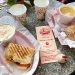 Potato Soup/Sandwich and Chick Noodle w/roll