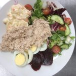 Tuna mayo salad, for eat in or outside in our seating area