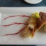 Sehr empfehlenswert! Klippfisch und als Dessert Apfelkuchen mit Vanilleeis