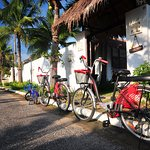 Free bicycle lending in resort area