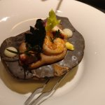 Sea food on a hot stone