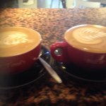 Coffees made by Sam at Bill and Tonis