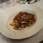 Plat : Saint-Pierre rôti, corgettes sautées et figatelli (30 euros)