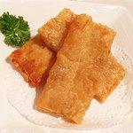 Beancurd sheet + prawn rolls