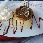Pareil pour le dessert...une belle présentation et un très bon dessert au caramel au beurre salé