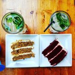 Carrot cake, Red Velvet and 2 Fresh lemon mint