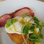 Bubble and squeak with bacon