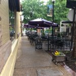 Outdoor dining on a charming street!