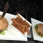 RAIN Burgers- Chicken and Beef.  Taste the RAIN