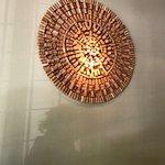 Decoração: Mandala de rolhas.