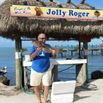 Catching big fish at the Jolly Roger.