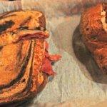 Ruben sandwich with baked potato