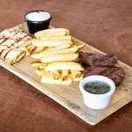 parrillada res y pollo -grilled  beef and chiken