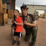 Our youngest participant and I at Battlefield Colorado