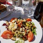 Salade de fruits de mer.