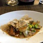 Truffles on scallops