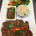 Charcoal grilled sirloin marinated in Thai style!